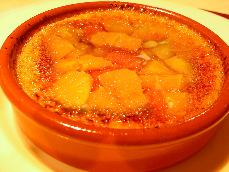 Crema catalana con naranja fácil