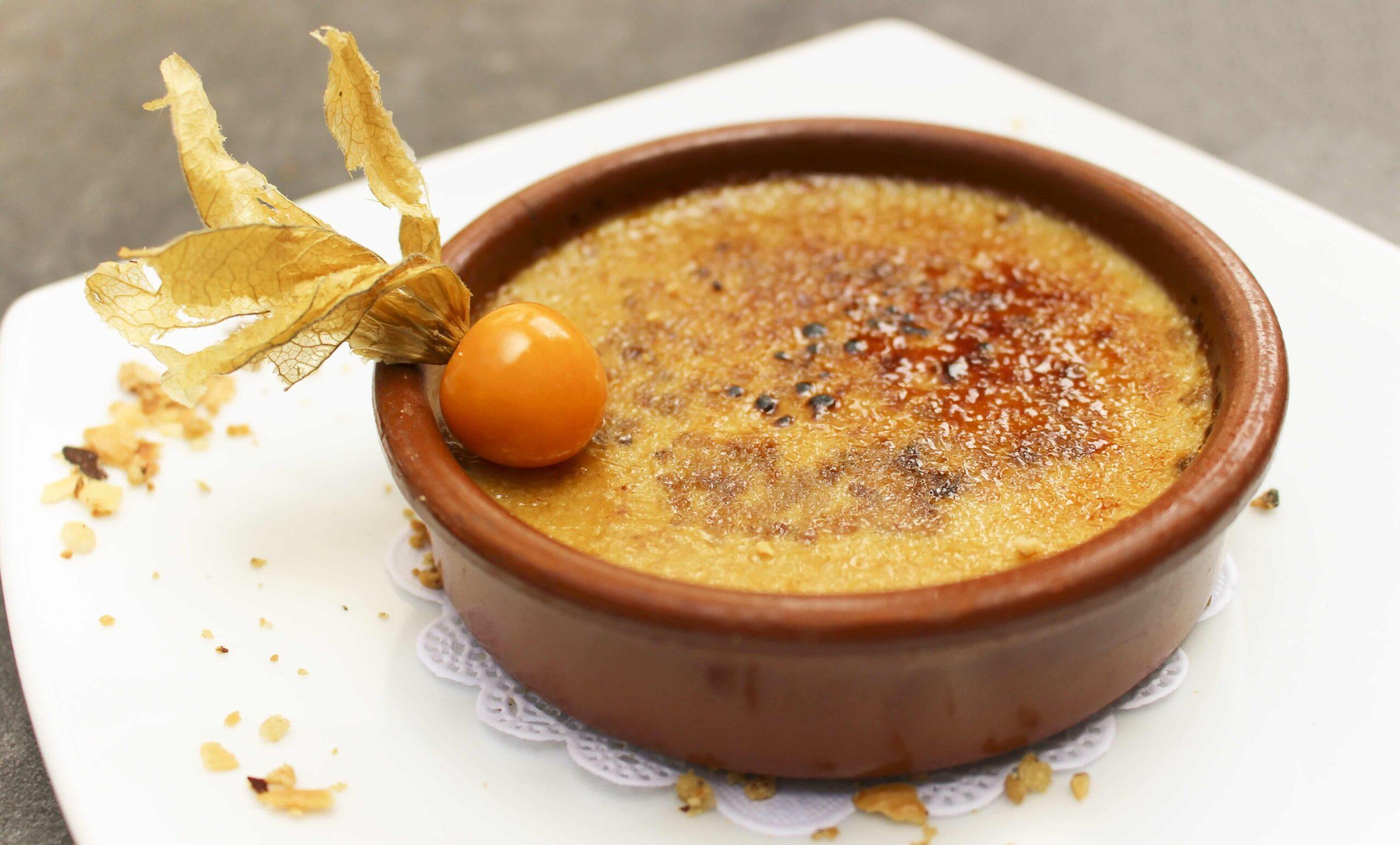 Crema Catalana con Vainilla dulce y deciliciosa